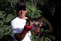 laurent poulain avec un petit silure pris a la frog