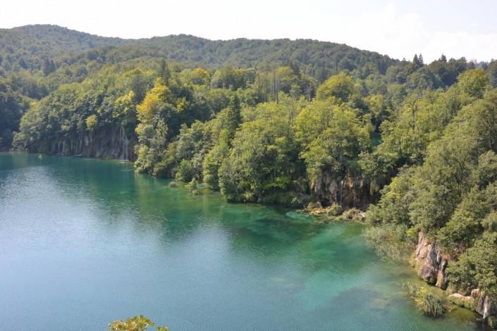 vue du lac supérieur du parc de Plivitce