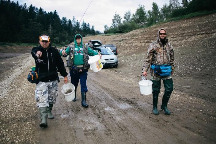 Sakura UL KUP 2016 arrivée des compétiteurs au bord du lac Lokvarsko