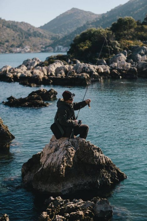 Luka Rock fishing en Croatie avec du matériel Sakura