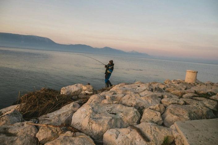 Marko Pavic de Sakura Croatia aux prises avec une grosse liche