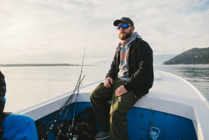 Robert de Sakura Croatia en bateau sur la Neretva