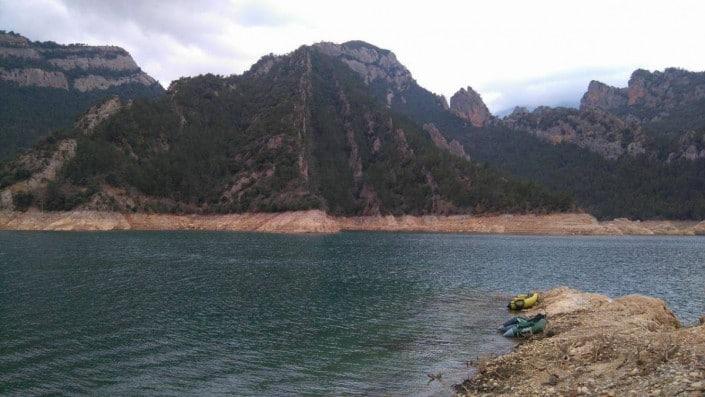 Lac de barrage Espagne
