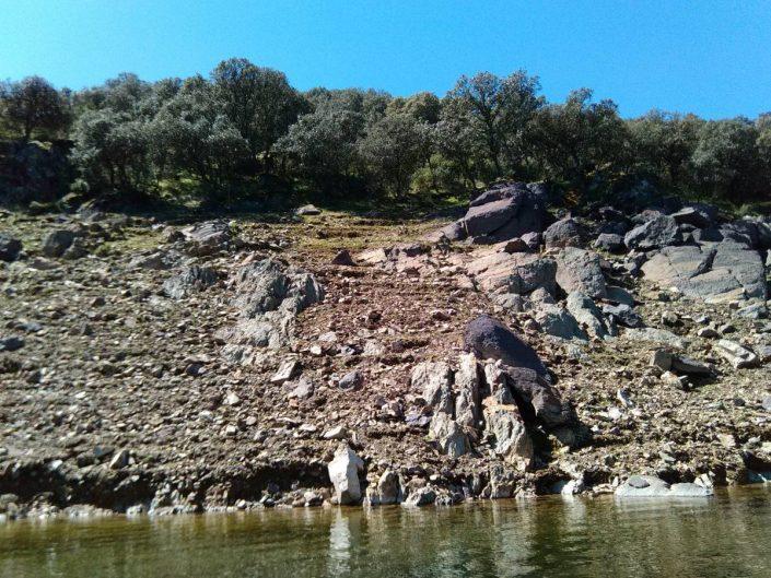les bords du lac de Cijara en extremadura