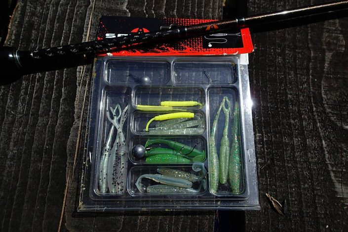 kit drop shot sakura fishing par fred