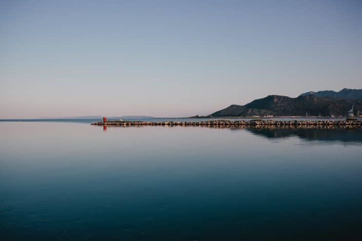 Coucher de soleil sur la Neretva en croatie