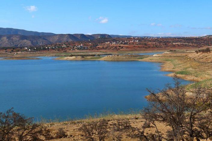 Le lac Moulay Abdellah au matin