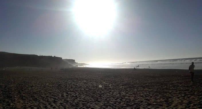 La plage près de Tamri