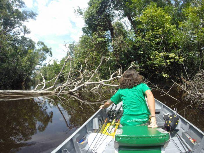 1er jour en action sur les affluenst du Rio Negro