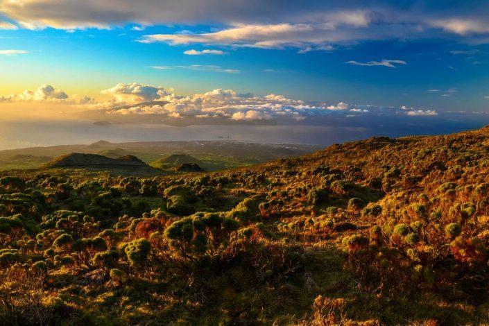 lever de soleil du l'île de faial aux açores