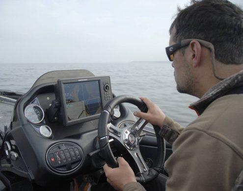 navigation au sondeur humminbird ONIX 10