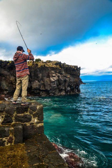 pêcher aux acores se fait toujours dans un cadre incroyable