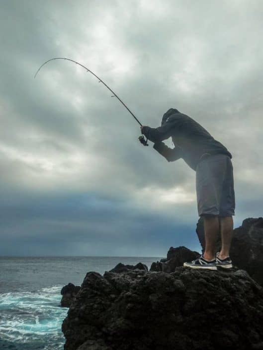 shore fishing in acores islands