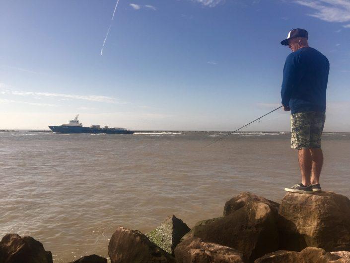 shore fishing by jean christophe david team sakura fishing