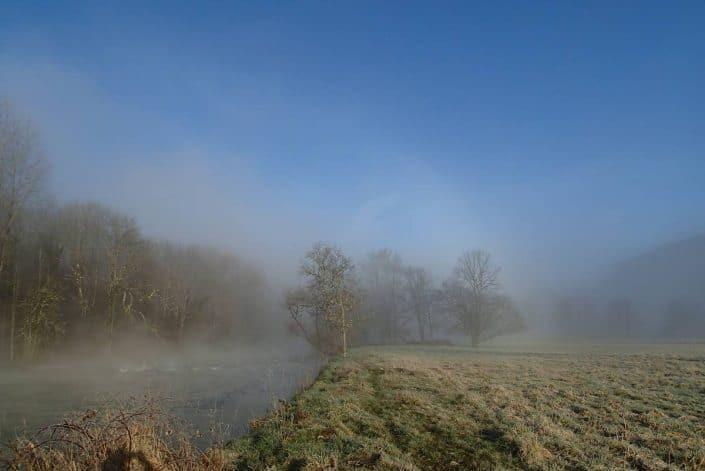 ouverture de la truite 2017 dans la brume qui se dissipe