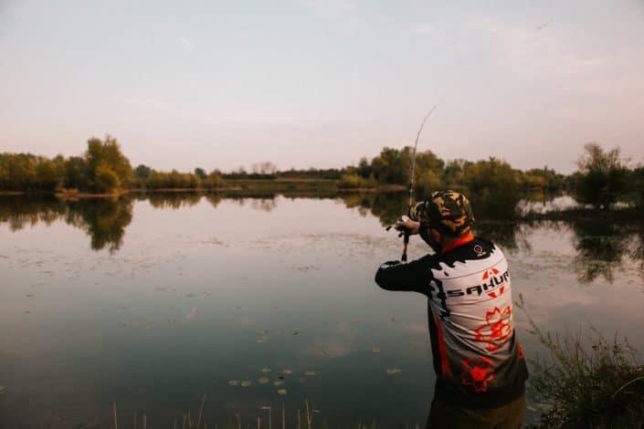 robert pljuscec casting with new Sportism 742 XXH sakura fishing