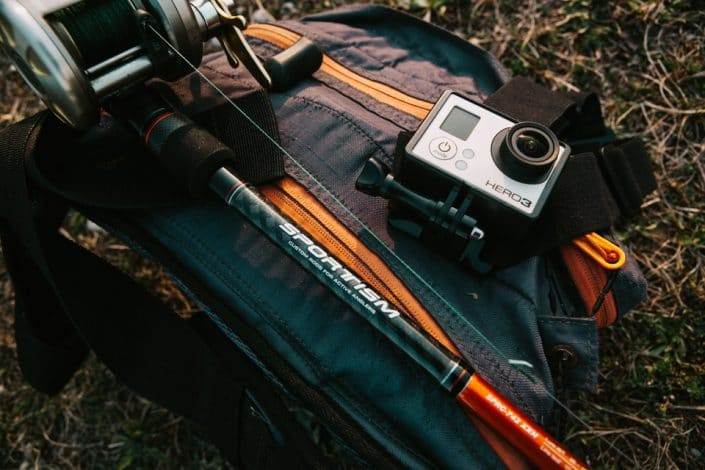 sakura sportism and go pro for a pike fishing session