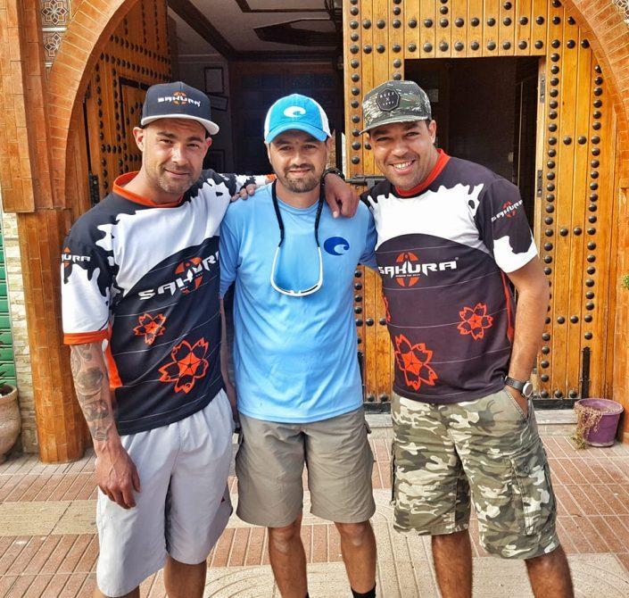Ade Walker Mounir El Beidori et Hatim Bob de la Team Sakura
