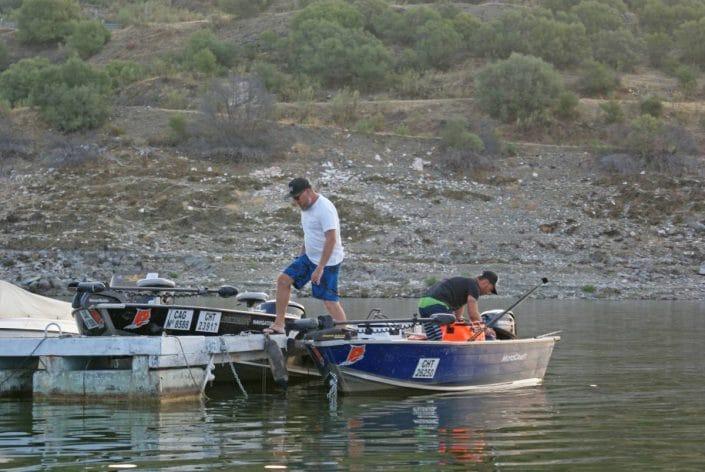 depart au petit matin sur le port d alcantara