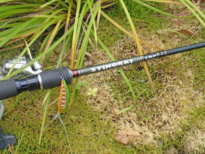 combo for trout fishing sakura stingray rod and phoxy minnow hw