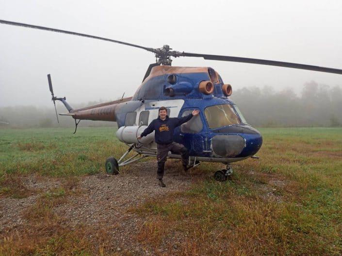 pêche aventure en hélicoptère