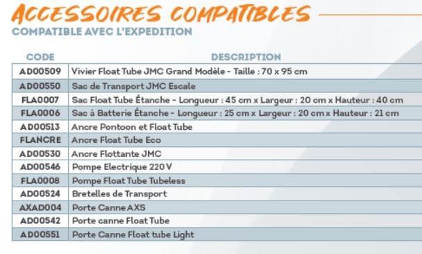 Accessoires pour float tube Sparrow EXPEDITION